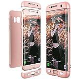 通用 Compatible con Funda Samsung Galaxy S7 Edge Carcasa Samsung S7 Edge Fundas Antigolpes Case Fácil De Desmontar 3 En 1 Rosa Tapa Accesorios Protector (S7 Edge, Rosa)