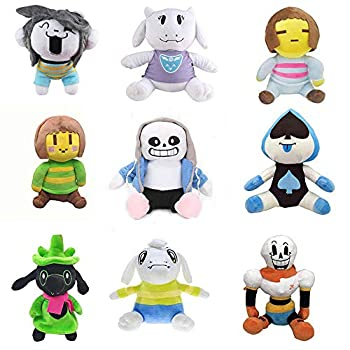9 Pcs Undertale Plush Toy Doll 25-35cm Papyrus Frisk Chara Sans Peluches Stuffed Toys for Children Kids Birthday Gifts