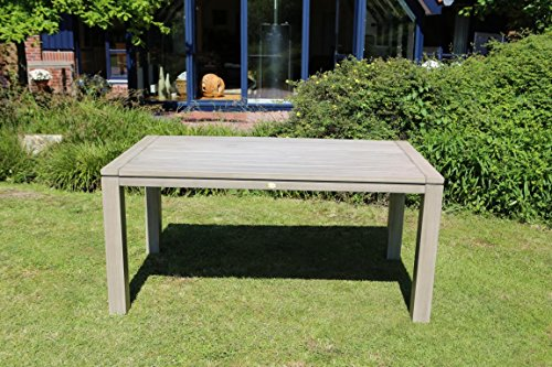 Destiny Gartenisch Messina Grey Wash 160 x 90 Akazie Esstisch Tisch Grau Washed