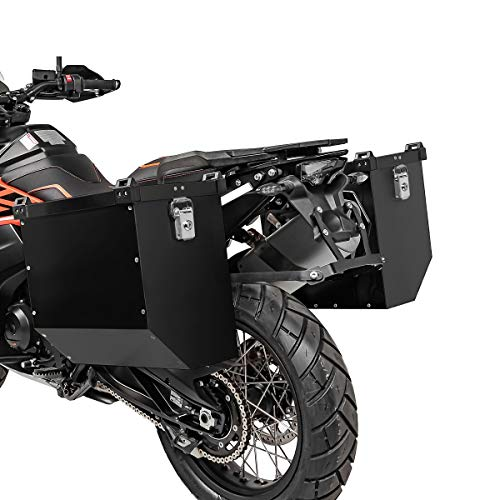 Juego de Maletas Laterales Aluminio para Yamaha XT 660 Z Tenere AT36 Negro
