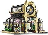Kit Bloques Construcción Arquitectura Jardín Botánico con Iluminación LED, 2147 Piezas Kit Modelo de Jardín Botánico Modular con Iluminación, Compatible con Lego