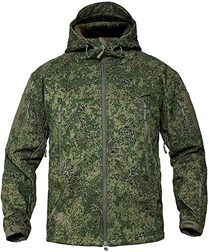 Memoryee Chaquetas de Softshell para Exteriores Impermeables para Hombres Abrigos tácticos Militares cálidos Camuflaje Abrigo