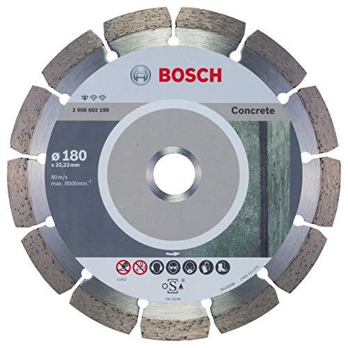 Bosch Professional Diamanttrennscheibe Standard für Concrete, 180 x 22,23 x 2 x 10 mm, 1-er Pack, 2608602199