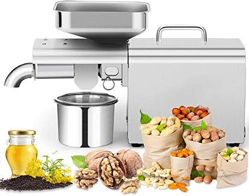 Kacsoo Máquina de prensa de aceite 500W Acero inoxidable 304 Prensa de Aceite Electrónica Automatico Máquina de prensa de aceite Para Maní/Colza/Sésamo/Semilla de girasol/Maíz/Nueces