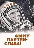Vintage Russian Soviet Union Space Propaganda LONG LIVE THE