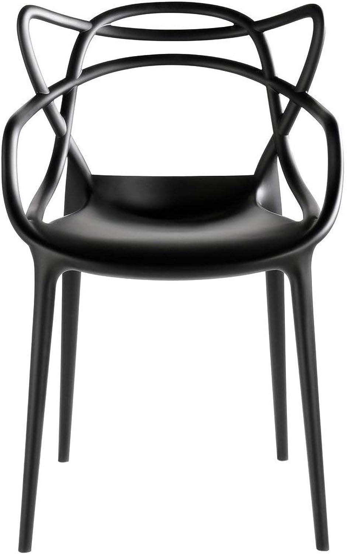 Kartell 586609 Stuhl Masters, schwarz