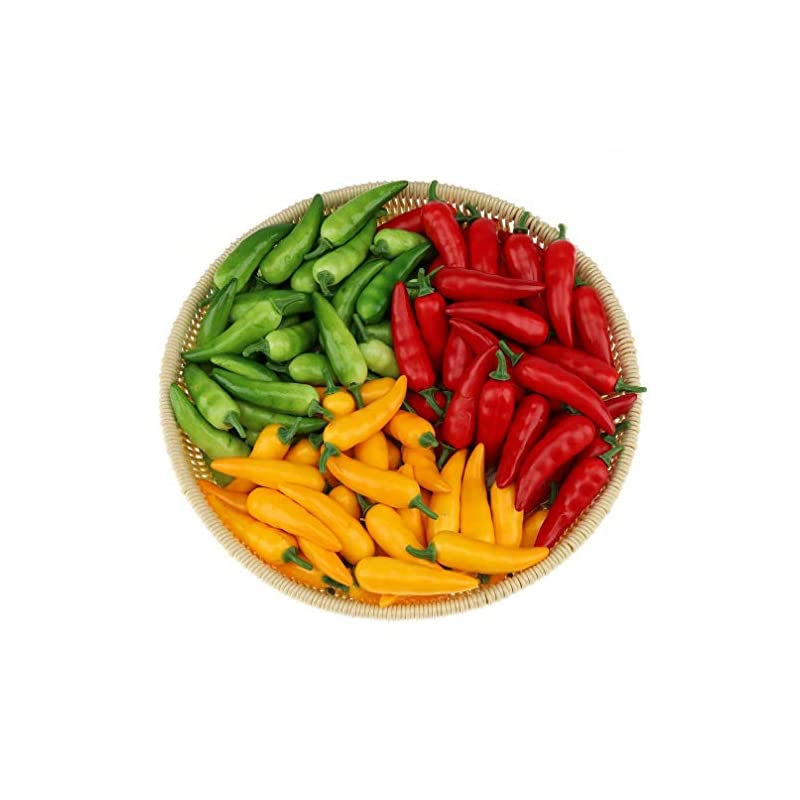 silk flower arrangements gresorth 60pcs artificial mini pepper chili fake vegetable home kitchen party christmas food toy decoration