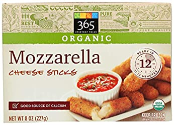 365 Everyday Value, Organic Mozzarella Cheese Sticks, 8 oz, (Frozen)