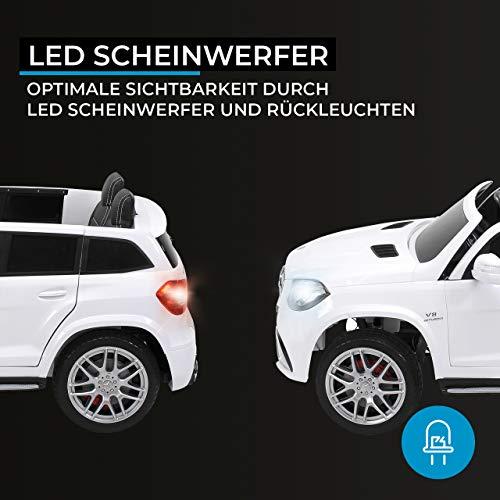 RC Auto kaufen Kinderauto Bild 5: Actionbikes Motors Kinder Elektroauto Mercedes GLS63 Allrad Leder Sitz Kinderfahrzeug Kinderauto 45 Watt 2 Sitzer (Weiß)*