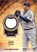 Features a piece of Mariners jersey worn by Felix Hernandez during a game Only 331 made Near Mint to Mint condition Comes in a brand new protective top loader for its protection and to display