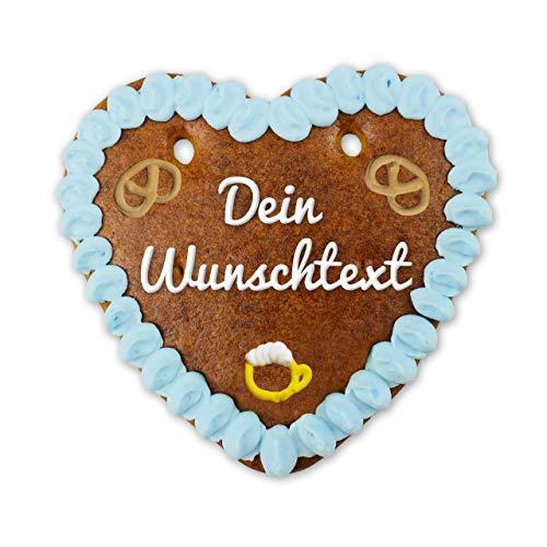 Lebkuchen Herz Oktoberfest-Style mit individuellem Text | bayerische Zucker-Dekoration| super Deko für die Motto-Party | online konfigurieren | personalisierbare Lebkuchen-Geschenke | LEBKUCHEN-WELT