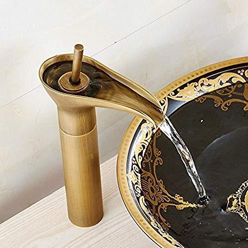 Jugendstil Klassische antike Bronze Toilettenarmatur heiß und kalt Weinglas Wasserhahn