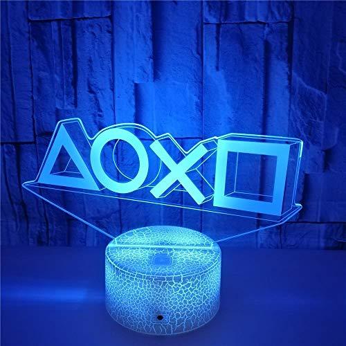 FREEZG LED Luces nocturnas Ilusión Letras geometría patrones 7 colores Lámpara de decoración Cambio - Regalo perfectos para niño [Clase de eficiencia energética A+]