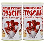 Toschi Amarena Cherries Tin 400 g (Pack of 2)
