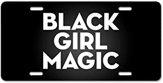 CafePress Black Girl Magic Aluminum License Plate, Front License Plate, Vanity Tag