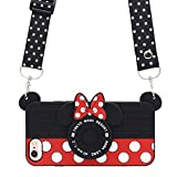 MC Fashion iPhone 6 Case, iPhone 6s Case, Cute 3D Minnie Mouse Polka Dots Camera Case for Teens Girls Women, Shockproof and Protective Soft Silicone Phone Case for Apple iPhone 6/6s (4.7-Inch)