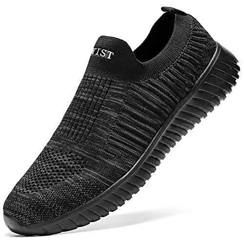 [VITIST YILAN] スニーカー レディース 厚底 スリッポン 白 ナースシューズ 黒 レディース シューズ くろ 人気 ウォーキングシューズ shoes for women グレー 22.5cm