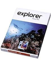 EXPLORER - Papel blanco multiusos para impresora - A4 110gr - 1 paquete - 250 folios