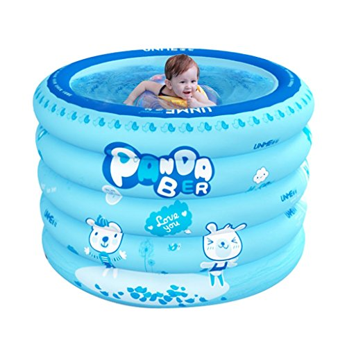 baignoire Gonflable bébé piscine, maison bébé rond intérieur baignoire, piscine gonflable pour enfants avec pompe électrique (Color : Blue, Size : 100 * 100 * 75cm)