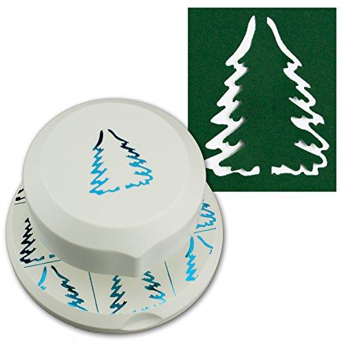 Artoz fliegender Stanzer - Tannenbaum Frei positionierbarerer Locher zum Karten-Basteln I Weihnachten Advent Einladungen Gruß-Karten