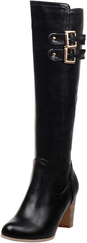 FANIMILA Knee High Boots Women High Heels Winter Boots Retro