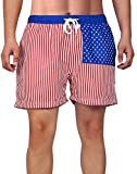HDE American Flag Shorts, American Flag Suits Boardshorts USA Bathing Suit for...