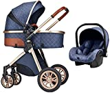 YZPTD Cochecito Ligero, camioneta para bebés, fáciles Plegables, Ruedas de absorción de Golpes, Carro con Accesorios, Tapa de Lluvia, Cubierta de pie, Cubierta de Lluvia, para recién Nacido