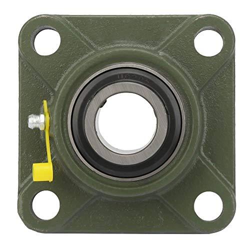 Rodamiento de bolas, 1 rodamiento cuadrado de cojinetes de inserción montados en 4 lotes con carcasa de fundición (UCF208)