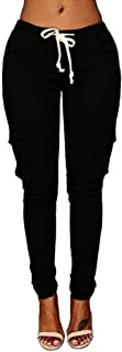 TOPUNDER Slim Stretch Elastic Trousers Women Stretch Pencil Trousers High Waist Pants