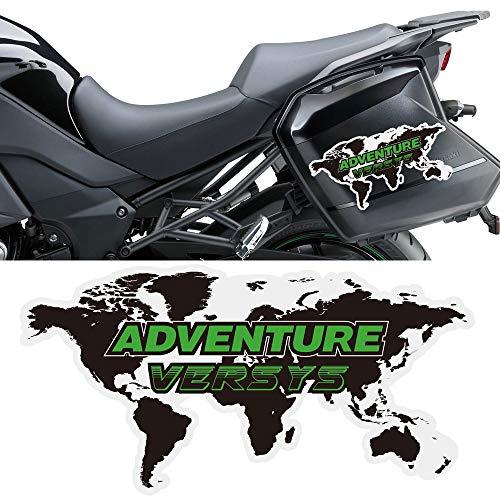 Qwjdsb para Kawasaki VERSYS Concours 300400650 1000, Pegatinas de Motocicleta, Maletas de Aluminio...