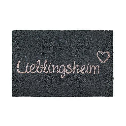 Preis am Stiel Fußmatte - Lieblingsheim   Fußabtreter Haustür   Türvorleger mit Spruch   Dreckmatte Eingangsbereich   Geschenk für Männer