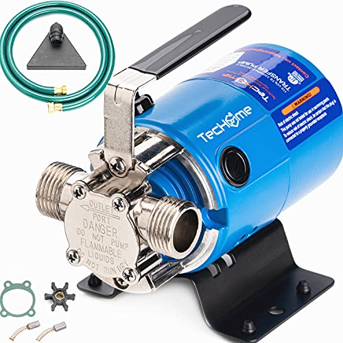 TecHome Water Pump, 115V 1/10HP 330GPH Water Transfer Pump, With Water Hose Kit Portable Electric Utility Pump, For Garden, Lawn,Aquarium,Swimming Pool, Pond, Basement