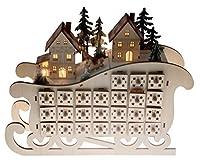 CLASSICO TEMA DECORATIVO NATALIZIO: Questo calendario dell'Avvento Clever Creations è perfetto per portare una briosa atmosfera natalizia in casa tua. Questo calendario darà sicuramente un tocco esplosivo al tuo ambiente e porterà nella tua casa tutt...