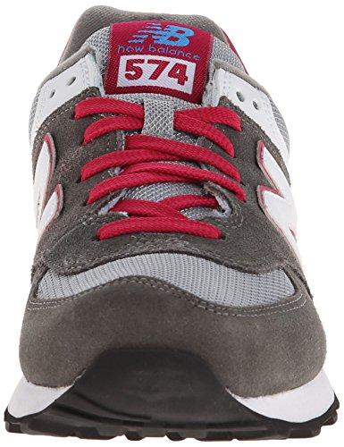 New Balance WL574 B - Zapatillas deportiva de piel mujer, color gris grey / pink / white / blue, talla 36.5