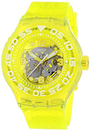 Swatch Orologio analogico al Quarzo Uomo con Cinturino in Silicone 1513047