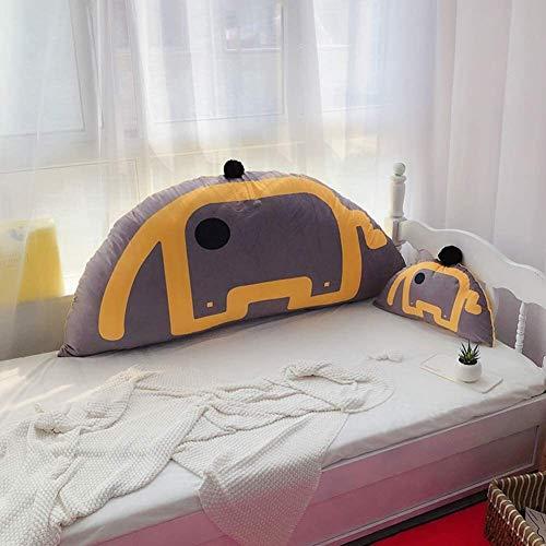 Schöne keilförmige Kissen mit Samtkissen Große Stützkissen zum Schlafen Upright Kopflesekissen Kinder Lange Kissen Grau (Color : Grey, Size : 120x60x25cm)