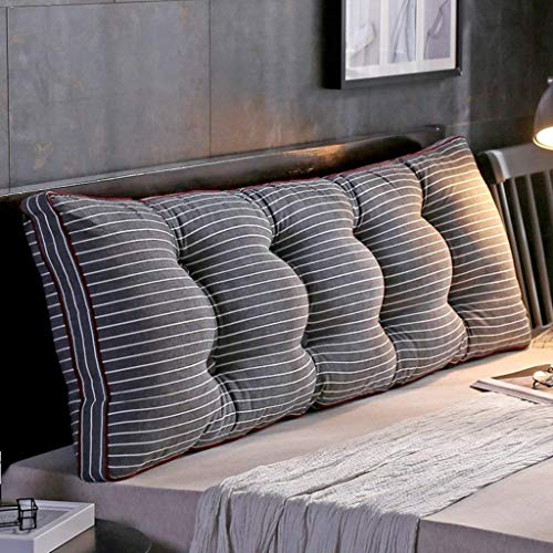 AFQHJ Afneembare Bedside rugkussen, Slaapbank Gestoffeerde kop, Soft Tatami Dubbel Grote lendensteun kussen (Color : F, Maat: 120x20x50cm)