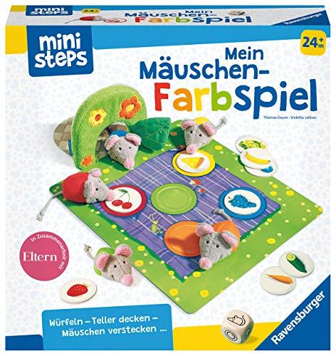 Ravensburger ministeps 4170 Mein Mäuschen-Farbspiel, Erstes Spiel zum Farben-Lernen mit viel Bewegung, Spielzeug ab 2 Jahre