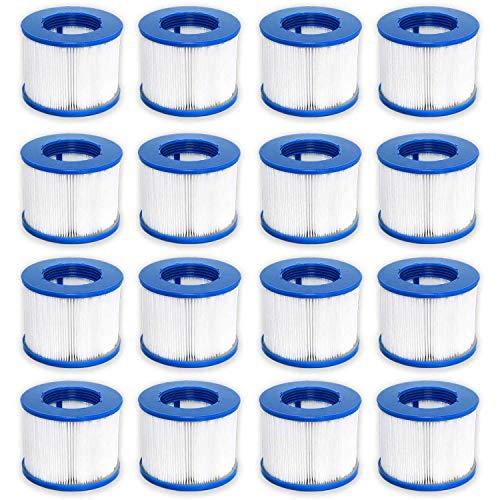 WAVE Spa Ersatz-Filterkartusche für Whirlpool/Spa, 16 Stück