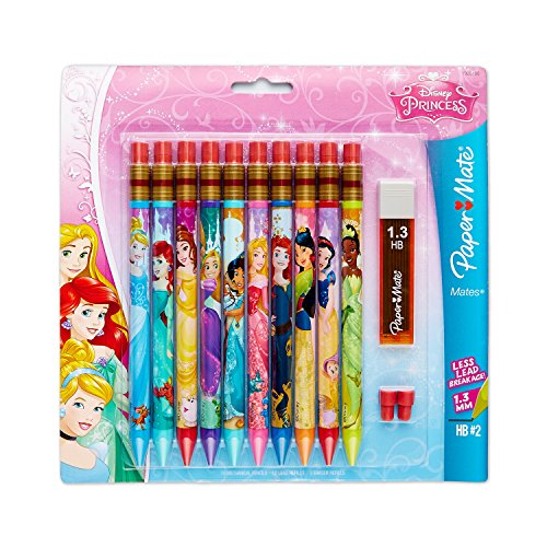 Paper Mate Mates Mechanical Pencil, 1.3mm HB #2 Leads, Disney, 10 Count