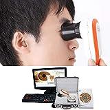 Iriscope USB CCD Haute Résolution - Caméra Oculaire de Diagnostic avec Objectif iris de 5.0MP/12MP HD, Logiciel D'analyse Sans Pilote et Étui de Rangement en Métal par Home Care Wholesale