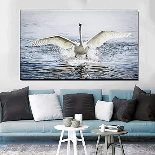 Puzzle 1000 Piezas Art White Swan Animal Art Gift Puzzle 1000 Piezas Adultos Juego de Habilidad para Toda la Familia, Colorido Juego de ubicación.50x75cm(20x30inch)