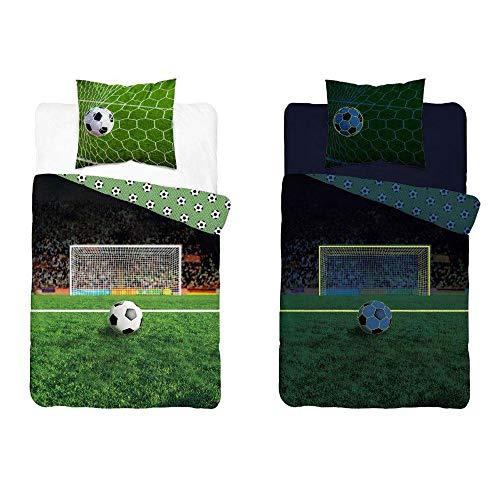 TDI Roman Kolodziejczyk Funda de edredón para cama individual, diseño de fútbol que brilla en la oscuridad, tamaño europeo