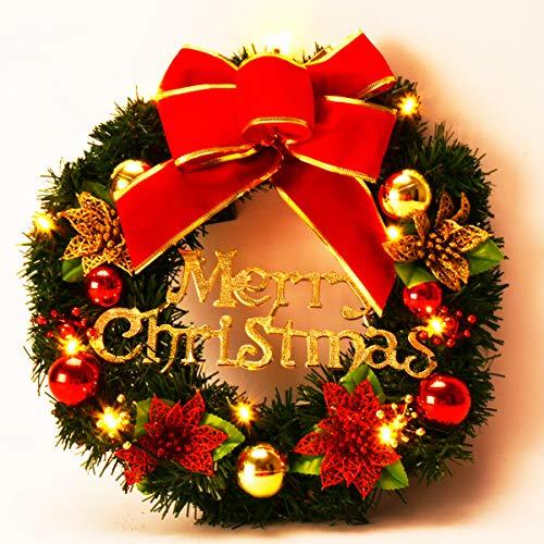 Coxeer - Ghirlanda decorativa natalizia con palline, da appendere