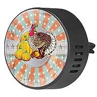 2pcsアロマセラピーディフューザーカーエッセンシャルオイルディフューザーベントクリップヴィンテージターキーパンプキン