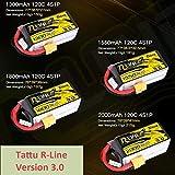 OUYBO Tattu R-Line Versión 3.0 V3 1300/1550 / 1800 / 2000mAh 14.8V 120C 4S Lipo con XT60 del enchufe for FPV RC Racing Drone Quadcopter Accesorios de batería de piezas RC (Color : 2000mAh 4S 120C)