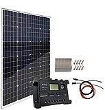 AUECOOR 120W 12V Mono Solar Panel Solar Module Kit:1pcs 120 Watt Monocrystalline Solar Panel +20A Solar Charge Controller for RV...