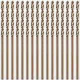 Set de 15 Brocas de Cobalto Brocas Helicoidales de Acero de Alta Velocidad M35 para Metal Endurecido Acero Inoxidable Hierro Fundido Carpintería Plástico (1/16 Pulgadas)