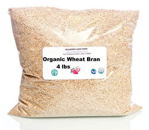 Wheat Bran, 4 Pounds USDA Certified Organic, Non-GMO Bulk