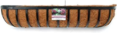 """Homeplace Living 36"""" Traditional Window Box/Wall Trough/Hayrack with Coconut Liner, Set of 2"""